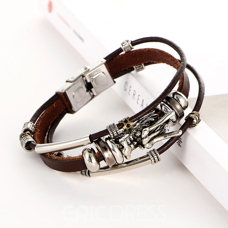 Ericdress Multilayer Leather Fashion Bracelet