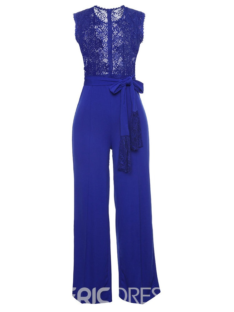 Ericdress See-Through Lace Lace Women's Jumpsuits