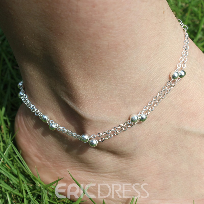 Ericdress Chic Beads Chain Anklet
