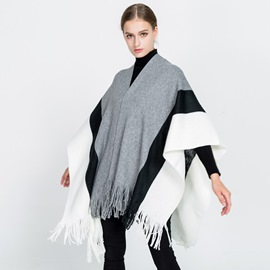 Ericdress Knit Striated Warm Shawl Scarf