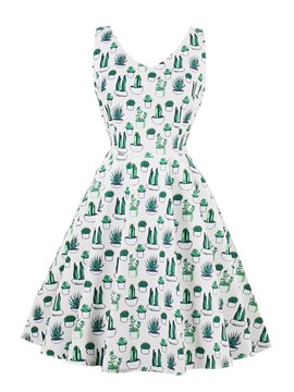 Ericdress A Line V Neck Printed Homecoming Dress