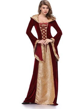 Ericdress Print Vintage Queen Halloween Costume