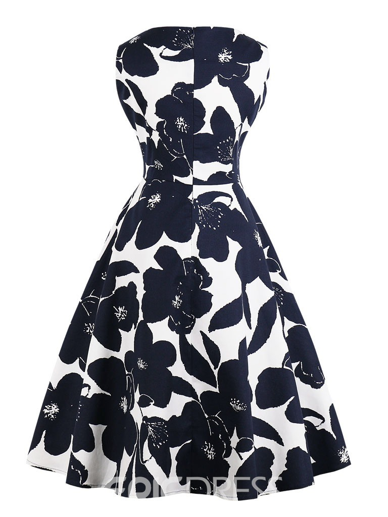 Ericdress V Neck Printed A Line Homecoming Dress