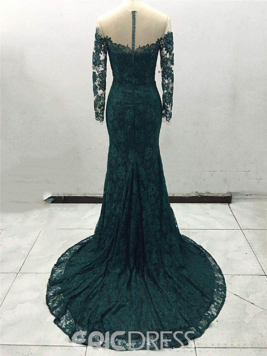 Ericdress Sheer Neck Mermaid Lace Evening Dress