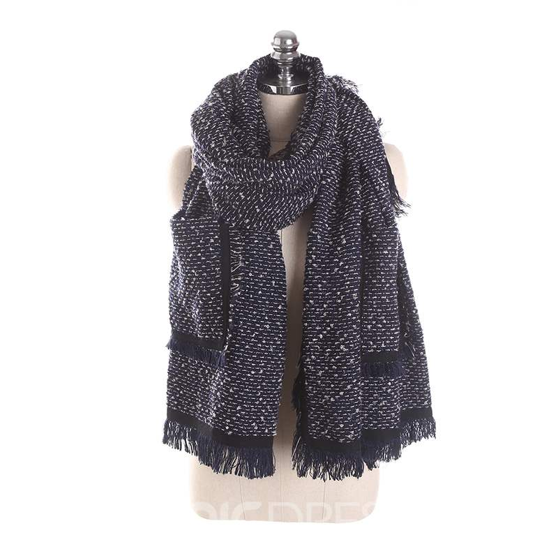 Ericdress Tassels Warm Pocket Shawl Scarf For Women
