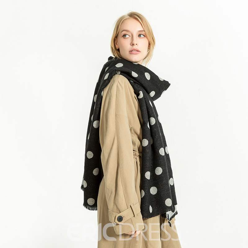 Ericdress Double Side Dot Warm Scarf
