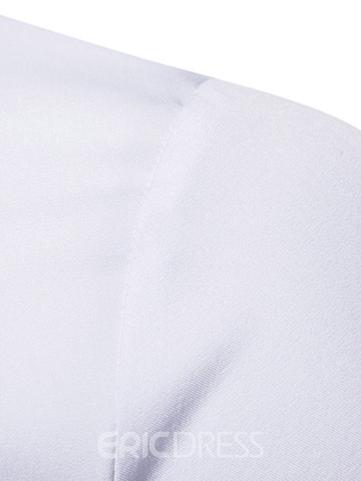 Ericdress Geometric Embroidery Slim Mens Casual Shirts