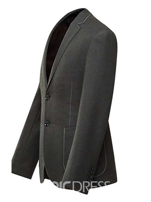 Ericdress Plain Slim Two Button Mens Casual Business Blazer