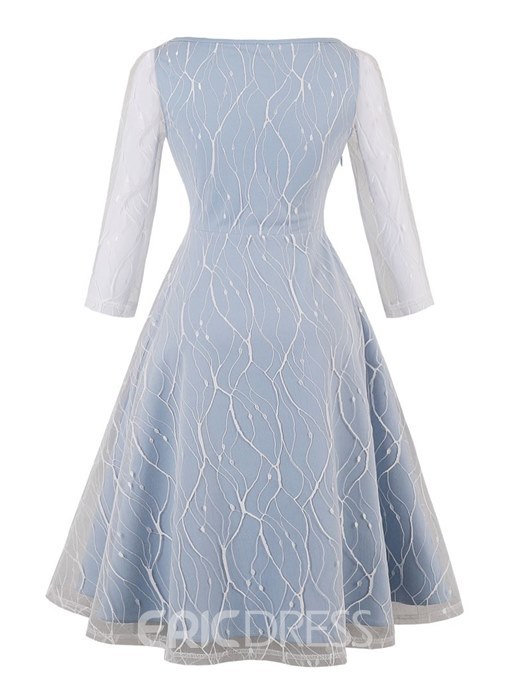 Ericdress A Line Half Sleeve Half Sleeve Lace Homecoming Dress