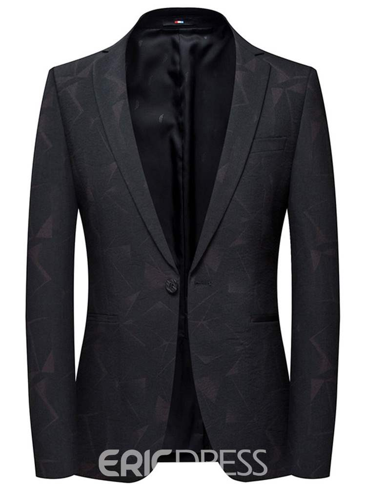 Ericdress Printed Plain One Button Slim Mens Casual Tuxedo Blazer