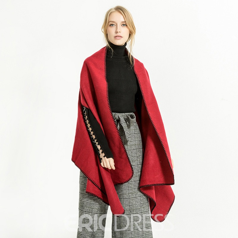 Ericdress Solid Color Shawl