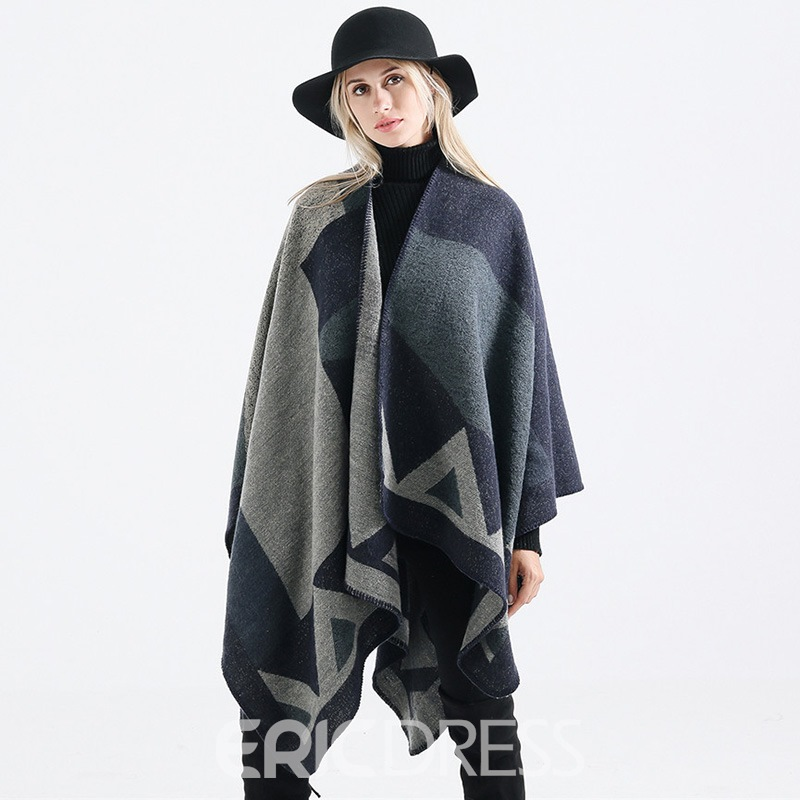 Ericdress Irregularity Color Block Scarf For Women