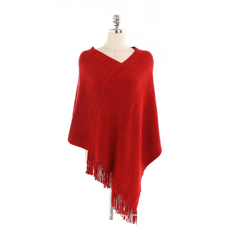 Ericdress Tassels Solid Color Shawl
