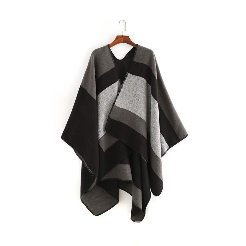 Ericdress Fall Color Block Shawl Scarf