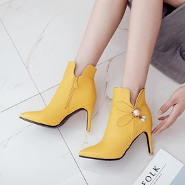 Ericdress Side Zipper Stiletto Heel Women's Ankle Boots