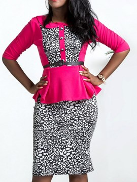Ericdress Floral Patchwork Shirt and Skirt Women's Two-Piece Suit