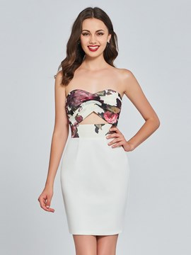 Ericdress Sheath Sweetheart White Bodycon Homecoming Dress