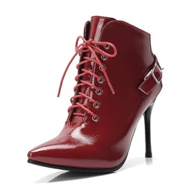Ericdress Lace-Up Front Stiletto Heel Women's Ankle Boots
