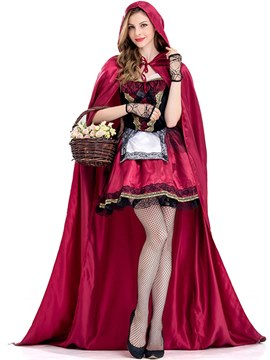 ericdress petit chaperon rouge bretelles cosplay costume d'halloween