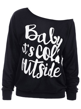Ericdress Loose Print Casual Sweatshirt