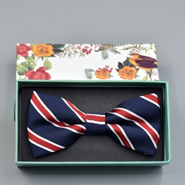 Ericdress Stripe Bow Tie