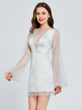 Ericdress Long Sleeve Bodycone Homecoming Dress