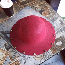 Ericdress Rivet Fall Bowler Hat