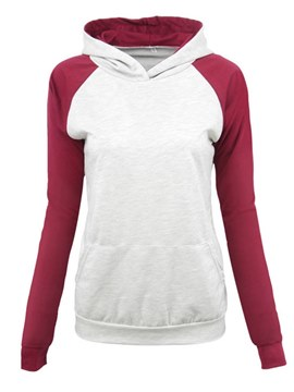 Ericdress Loose Color Block Casual Single Cool Hoodie