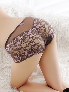 Ericdress Floral Seamless Panty for Women