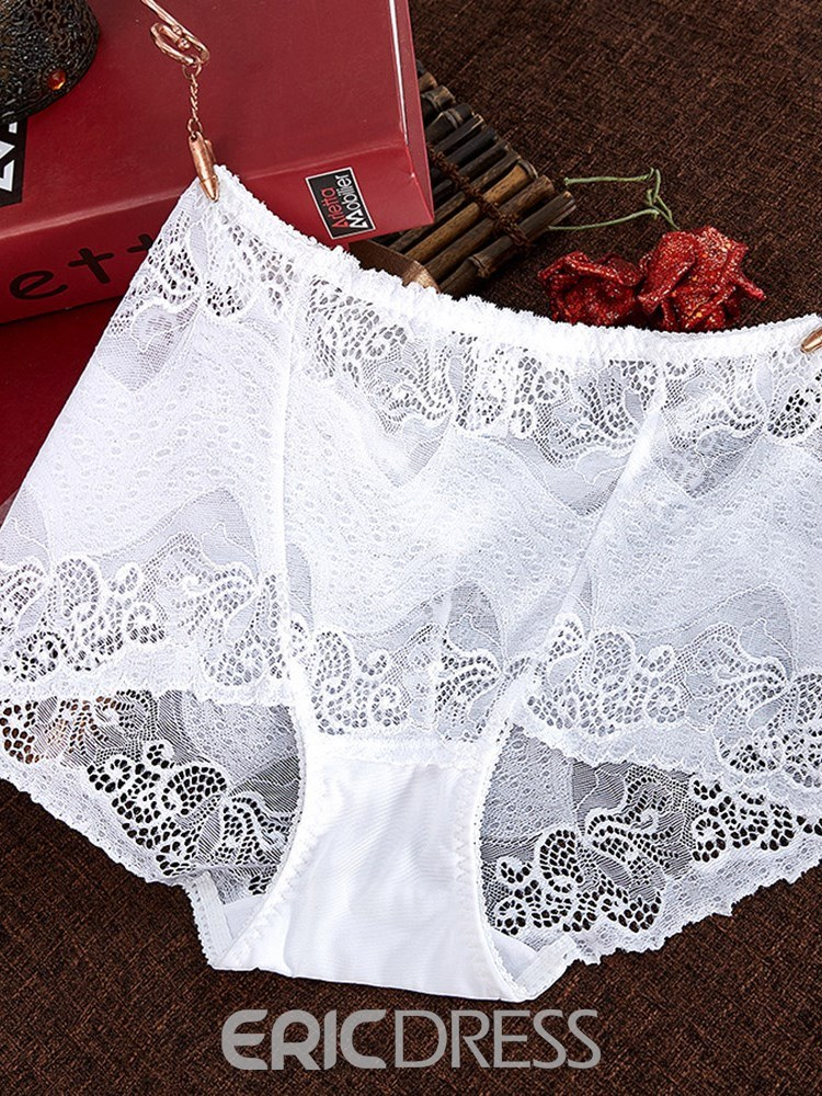 Ericdress High-Waist Lace Plus Size Panty for Women