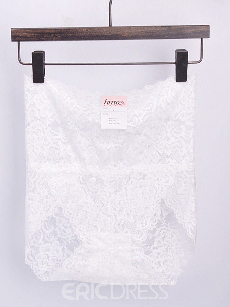 Ericdress High-Waist Lace Seamless Plus Size Panty