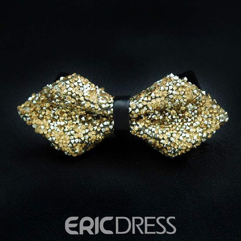 Ericdress Rhinestone Men's Bow Tie