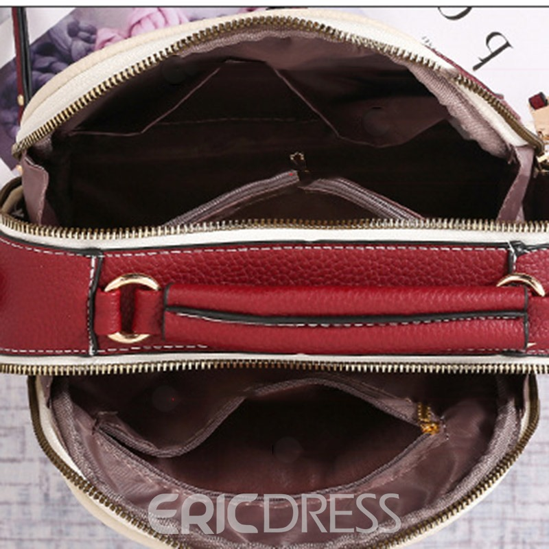 Ericdress Vogue Color Block Women Crossbody Bag