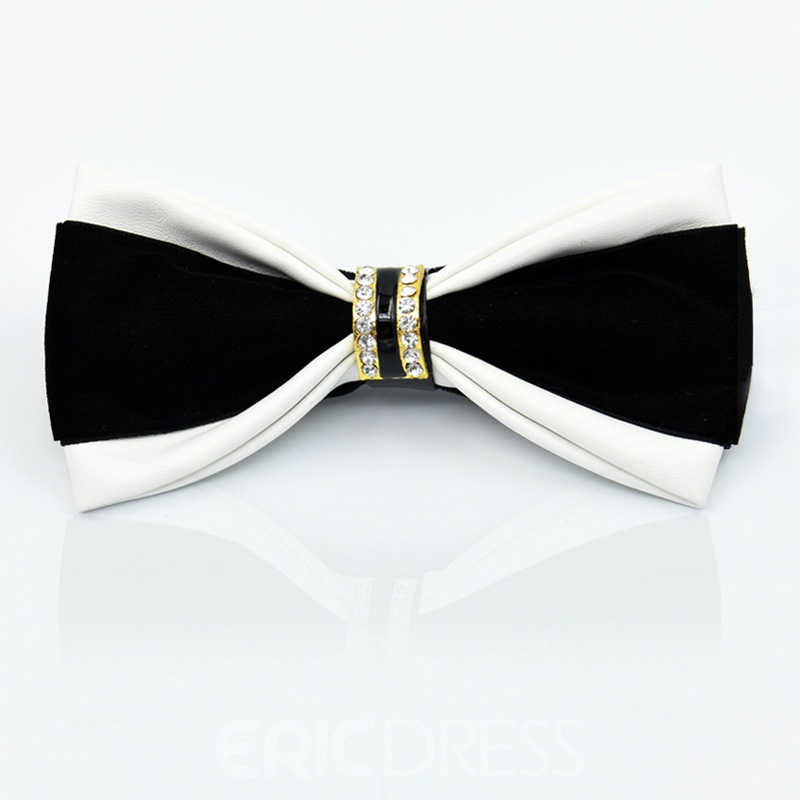 Ericdress Velvet Diamante Ring Bow Tie