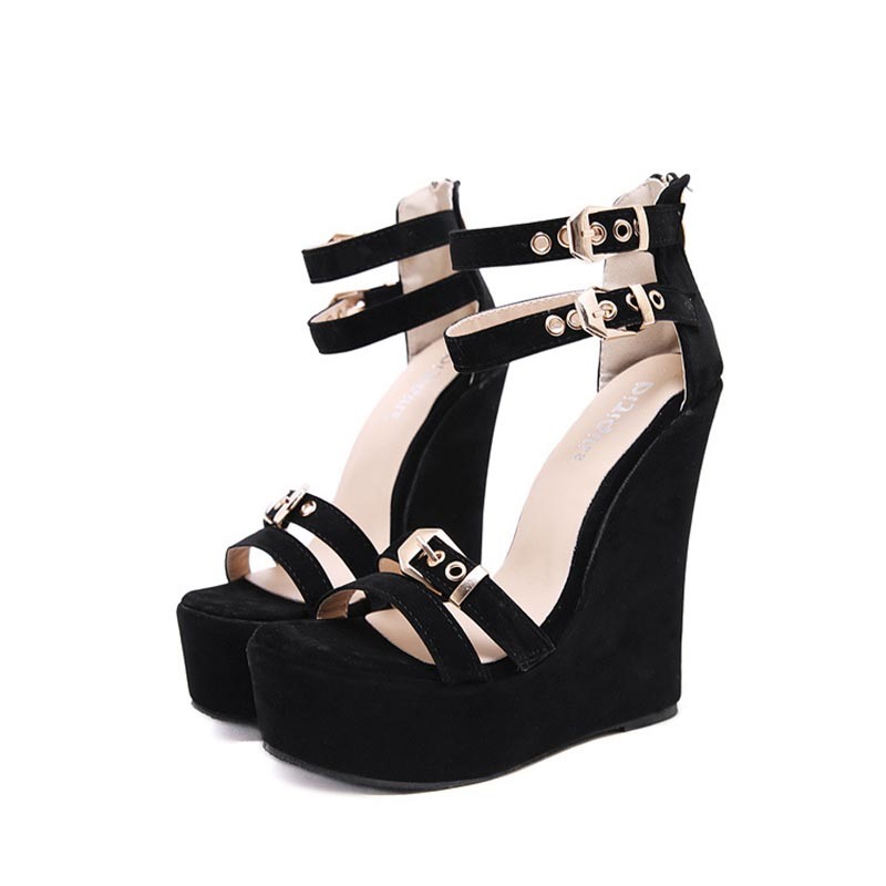 Ericdress Buckle Wedge Heel Women's Sandals