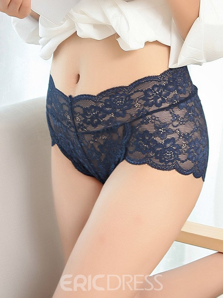 Ericdress Lace Seamless Hollow Plus Size Panty for Women
