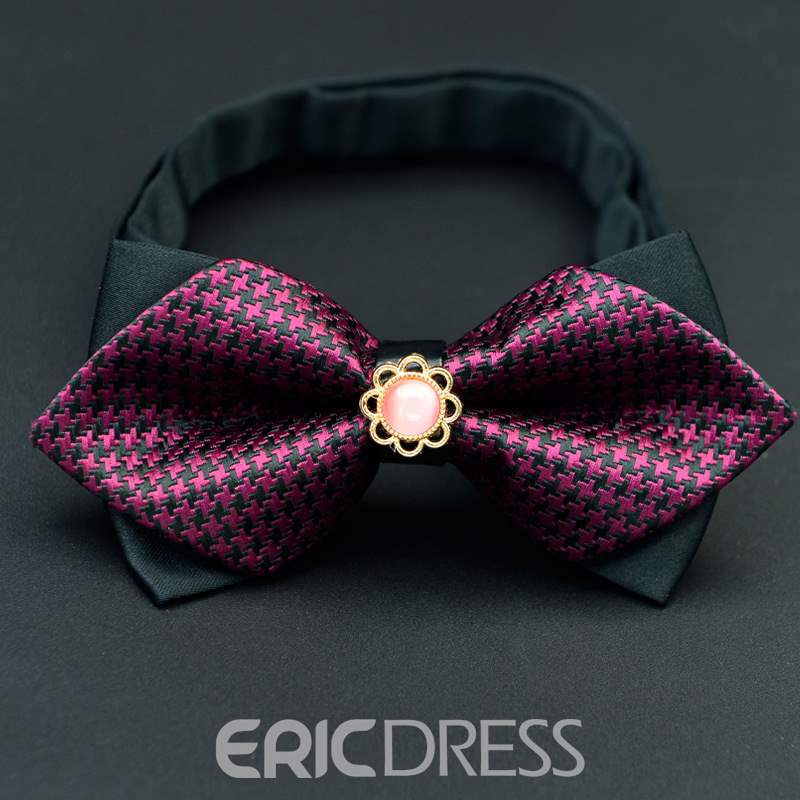 Ericdress Plaid Floral Bow Tie