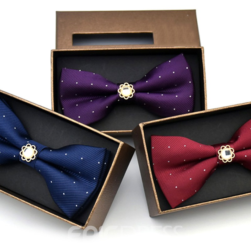 Ericdress Polka Diamante Bow Tie