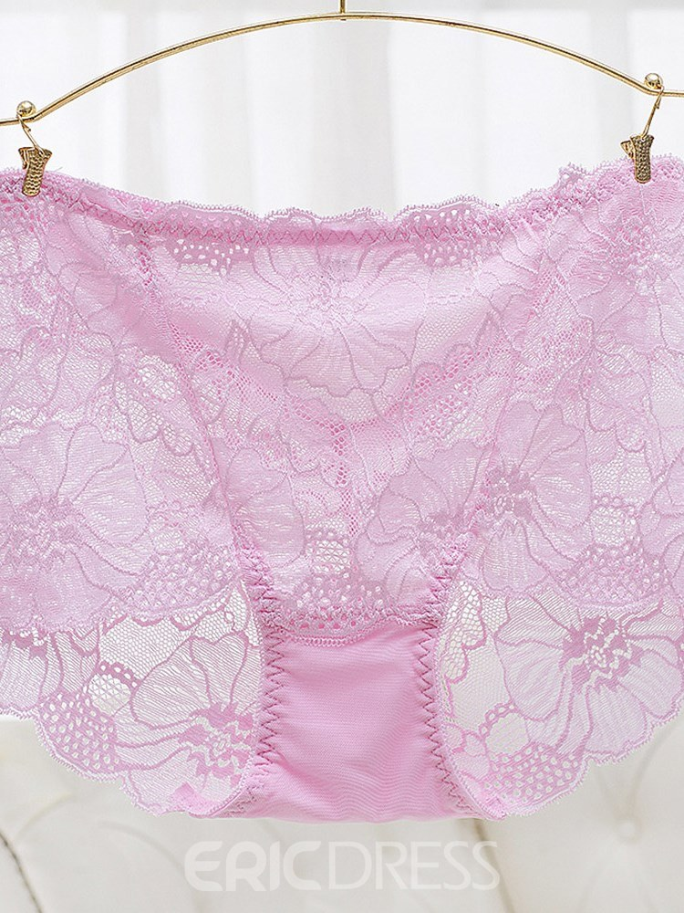 Ericdress Floral Lace Sexy Plus Size Panty for Women
