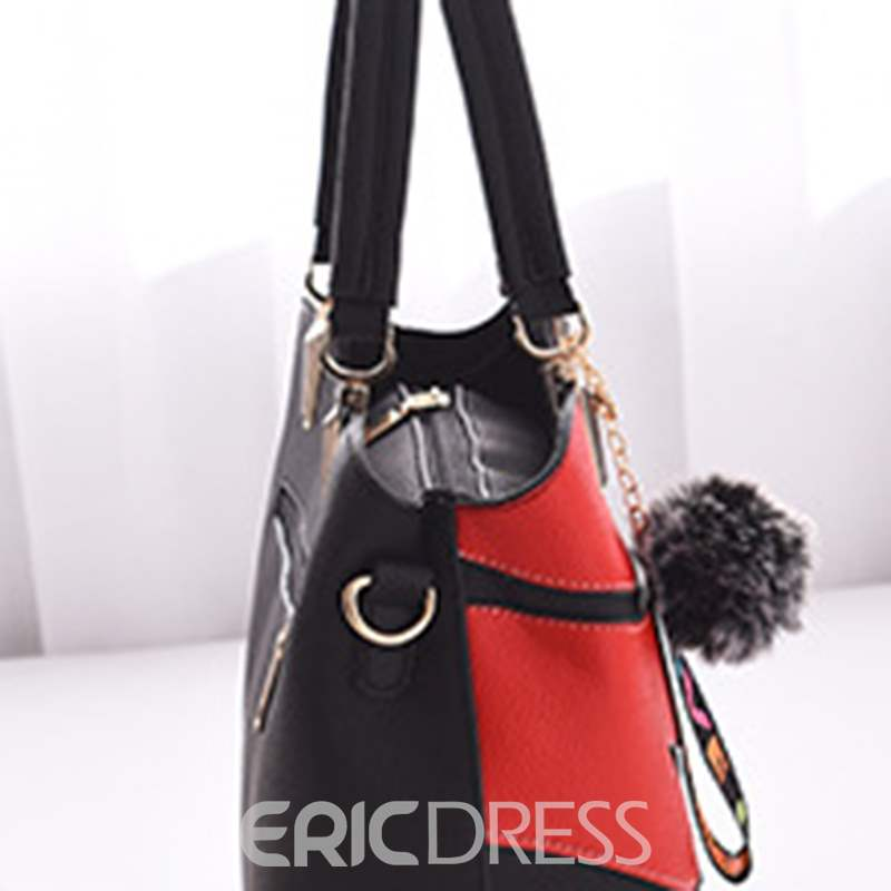 Ericdress Casual Patchwork Medium Handbag