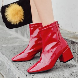 Ericdress Square Toe Chunky Heel Women's Ankle Boots