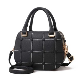 Ericdress Casual Plaid Zipper Women Saddle Handbag