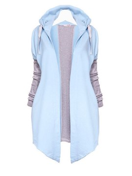 Ericdress Loose Color Block Casual Cool Hoodie
