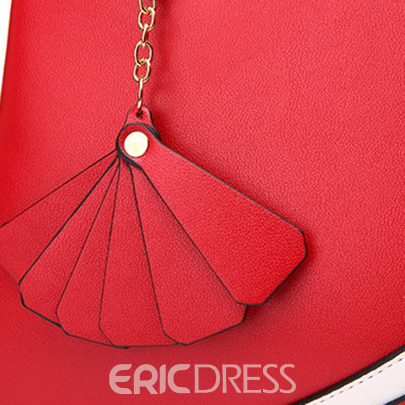 Ericdress Fresh Color Block Patchwork Women Handbag