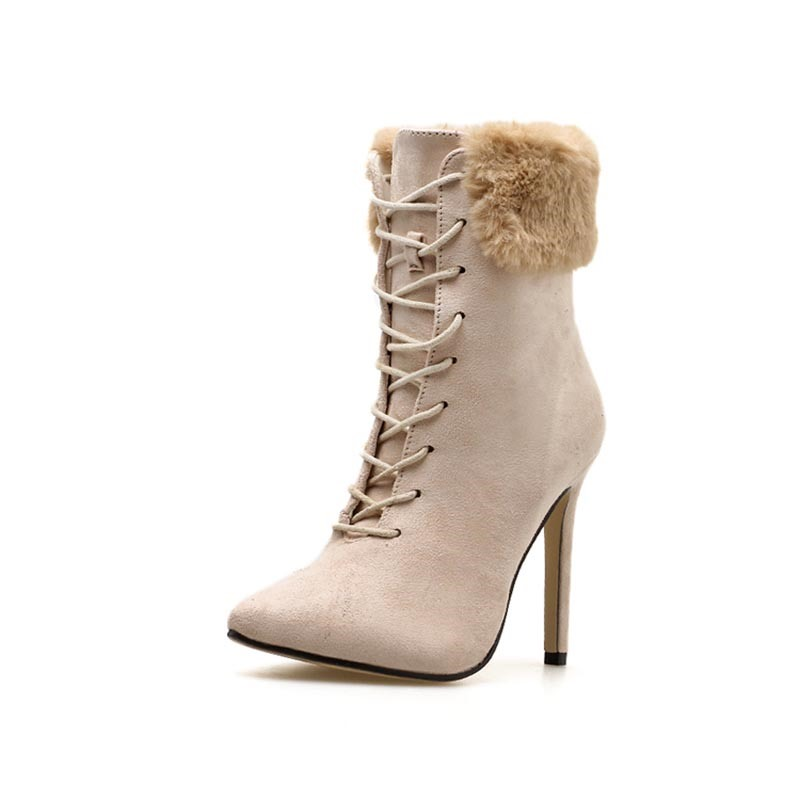 Ericdress Faux Suede Stiletto Heel Women's Ankle Boots