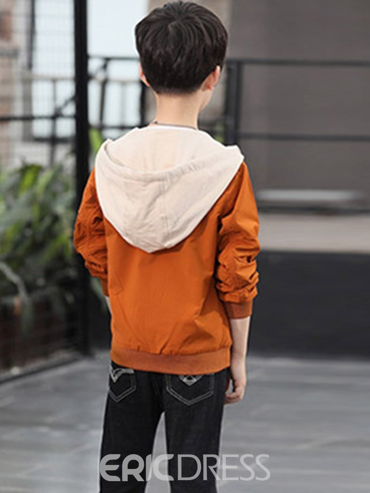 Ericdress Printed Zipper Pocket Boy''s Casual Jacket
