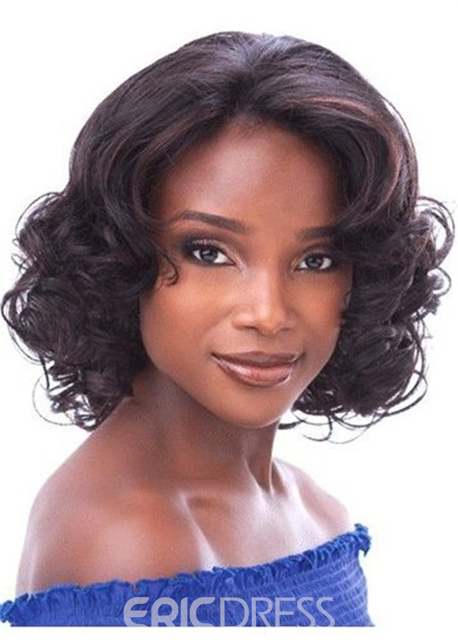 Ericdress Bob Curly Layered Cut Synthetic Hair Lace Front Wig