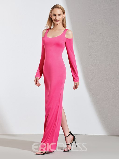 Ericdress Sheath Long Sleeve Long Evening Dress