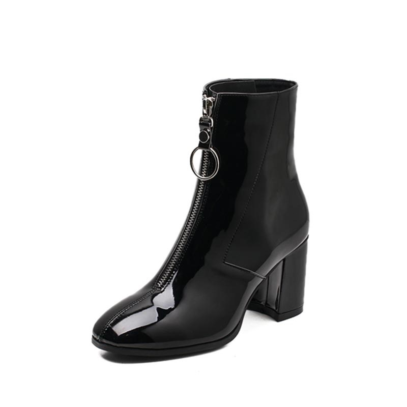 Ericdress Front Zip Square Toe Women's Ankle Boots