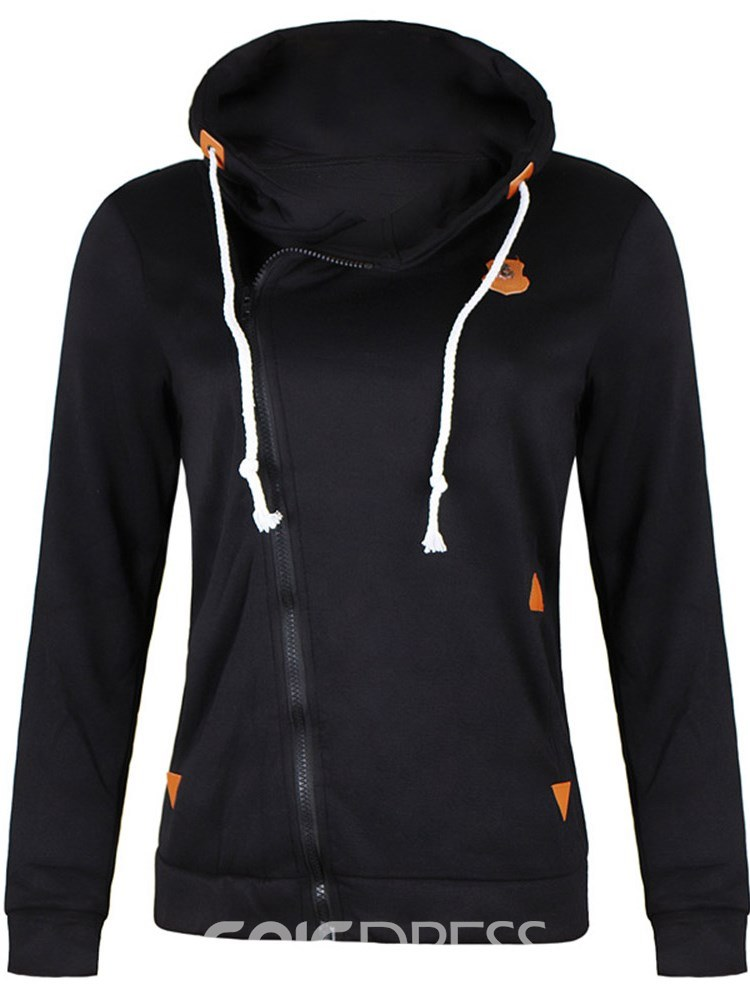 Ericdress Zipper Casual Slim Cool Hoodie